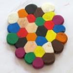 ... wie sechseckige Waben aus runden Formen entstehen.