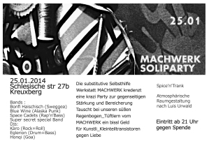 Machwerk-Soliparty